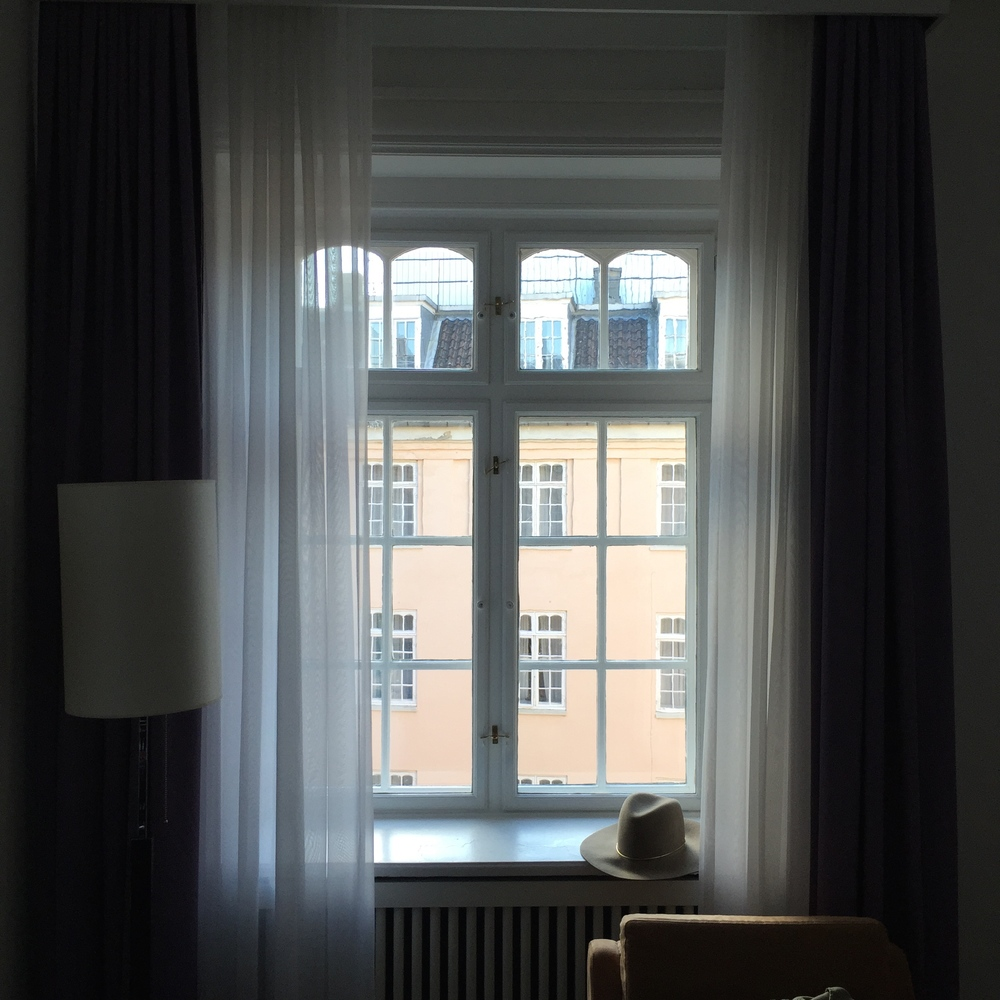 The dreamy window in our hotel room in Copenhagen