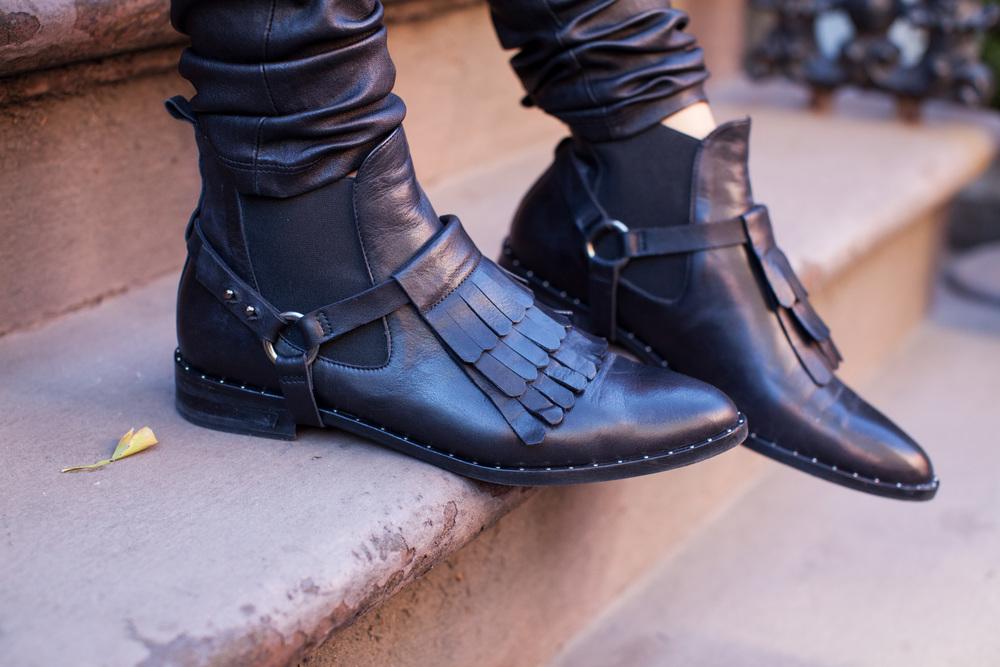 freda salvador black chelsea boots booties