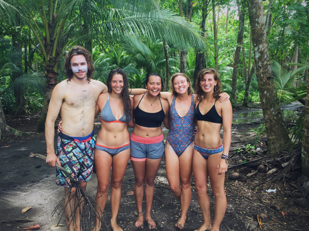 The surf crew and me as their honorary surf babe for the week ^_^