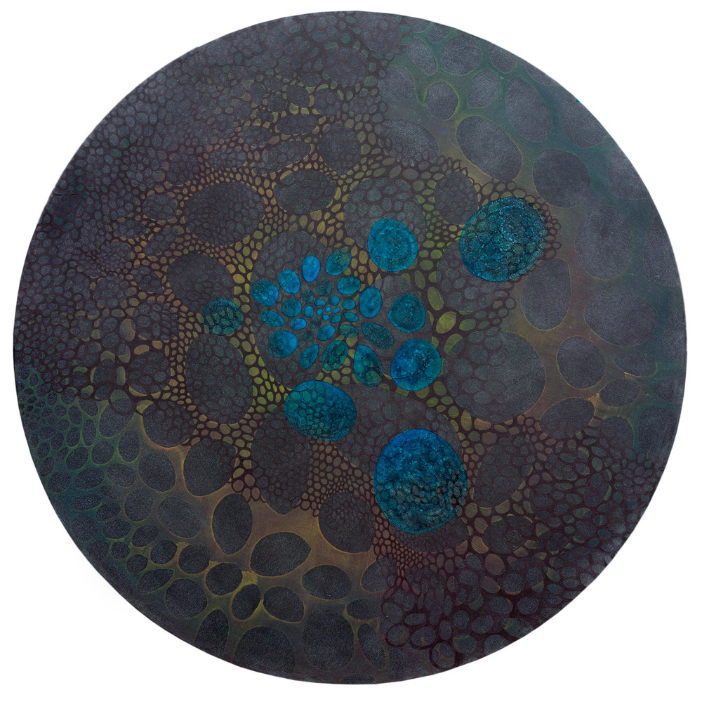 "Varis  72"" diameter  Oil on Canvas"