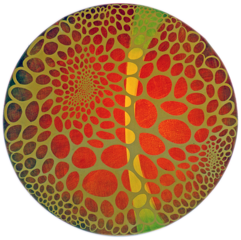 "Verkko  50"" diameter  Oil on Canvas"