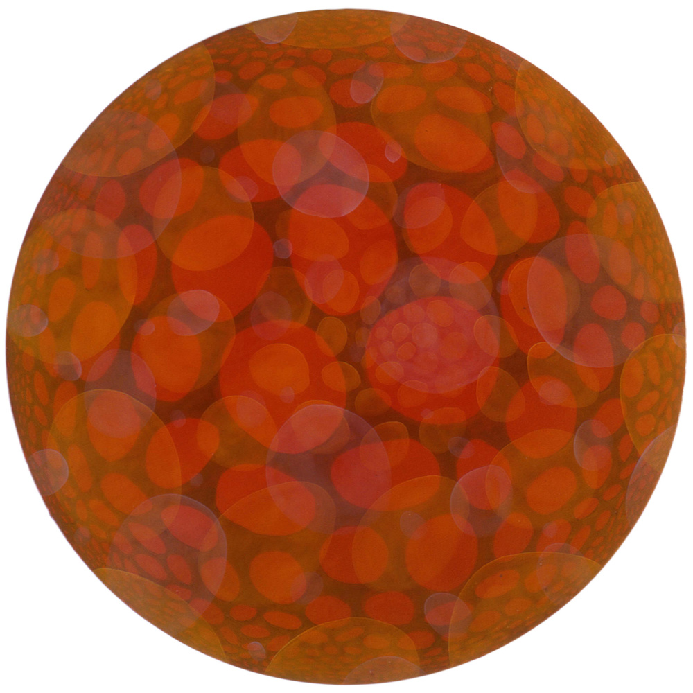 "Uni  50"" diameter  Oil on Canvas"