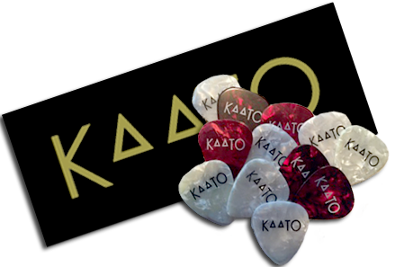KAATO Sticker and Custom Guitar pic (2)FREE with any Order
