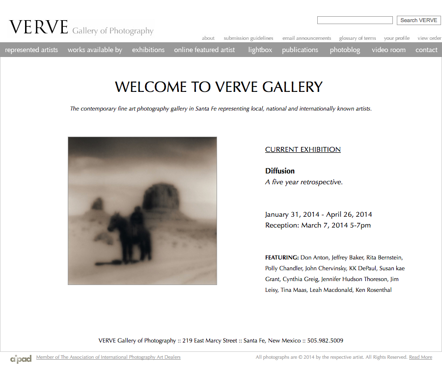 Diffusion : A Five Year Retrospective  at Verve Gallery.