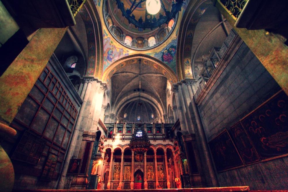 church of the holy selpulchre, christian quarter, old city jerusalem