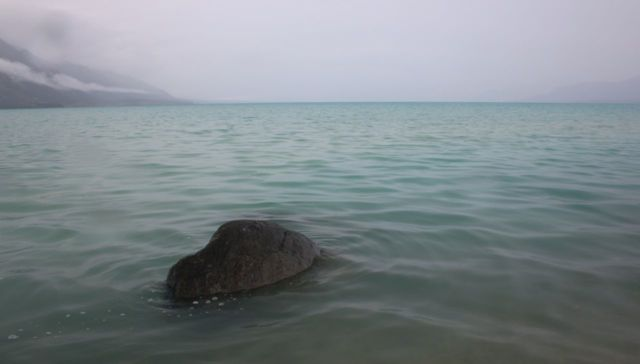 Prayer for a Rock in a Lake , Kluane National Park, Yukon Territory, Canada