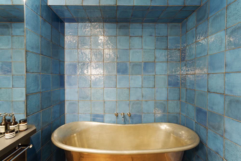 blue bathroom tiles interior decorator melbourne