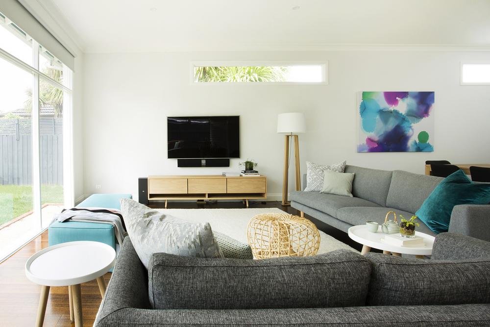 Living room design by Melbourne interior designer Meredith Lee