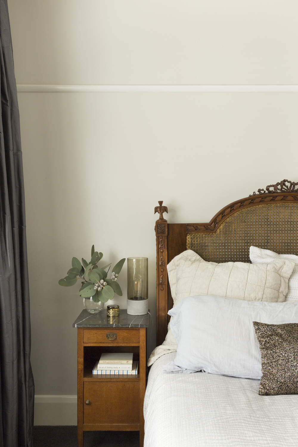 bedroom design Interior designer Melbourne Clifton Hill Interior decorator design ideas house design curtains