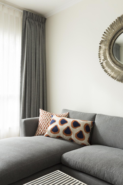 Black Rock living room design by Melbourne interior designer Meredith Lee