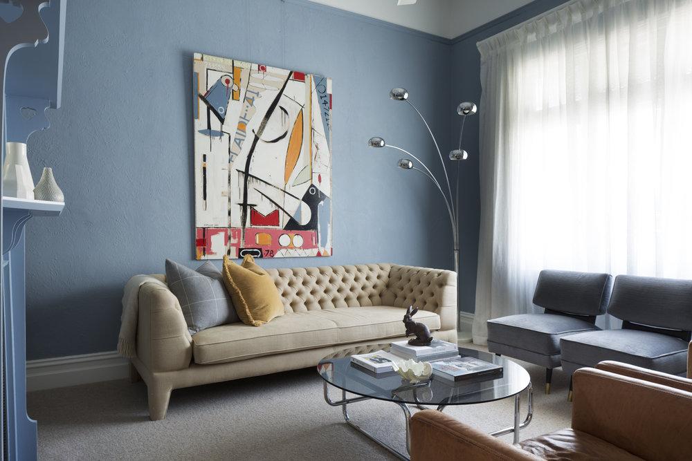 Clifton Hill sitting room design by Melbourne interior designer Meredith Lee
