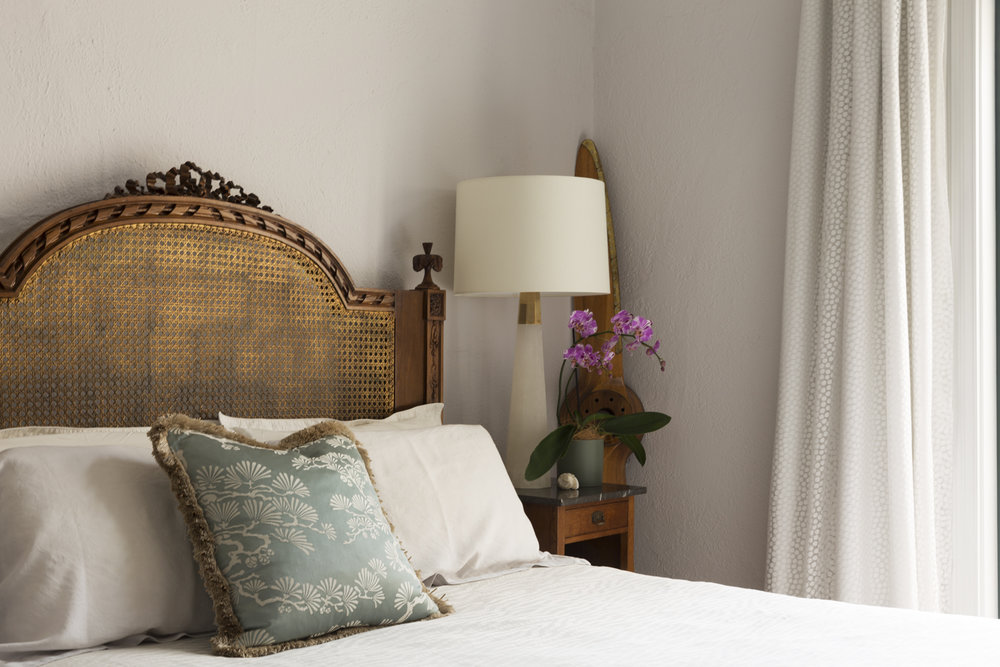 Clifton Hill bedroom & curtain design by Melbourne interior designer Meredith Lee