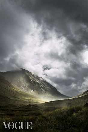 Lisa's shot of Glencoe - shown In Vogue Italia online