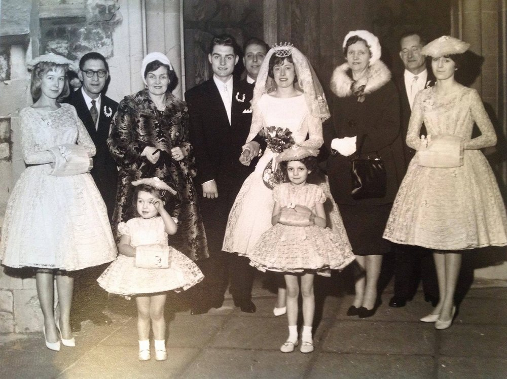 Mrs Jean Apps wedding day 1960.
