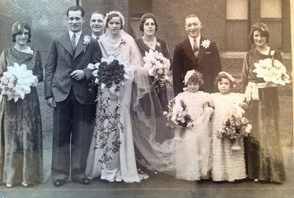 Sarah Rossi's Great-Grandparents wedding 1935.