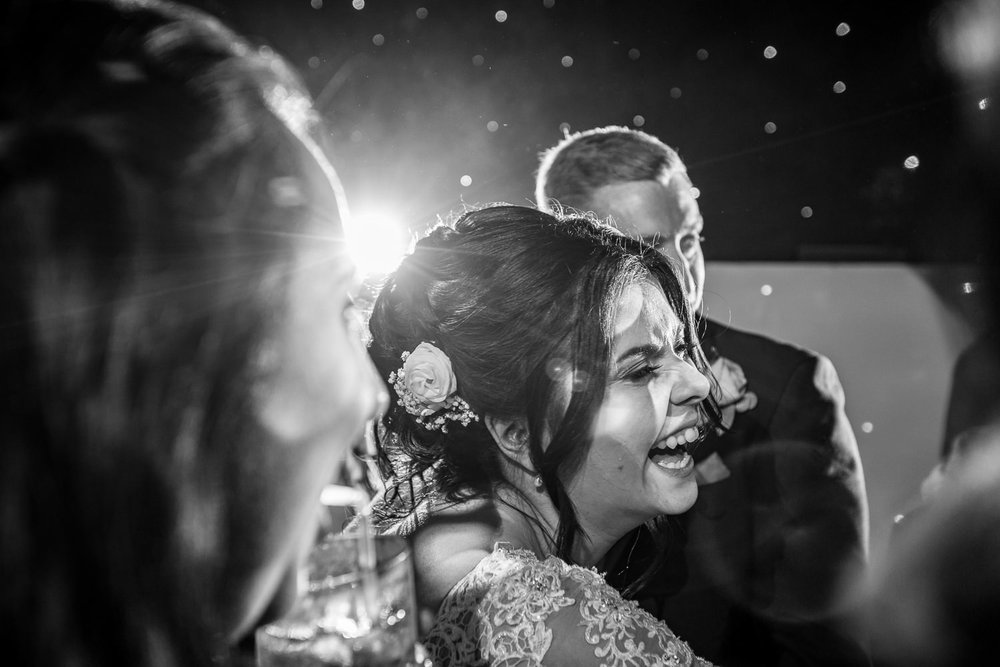 Brides happy tears after her first dance