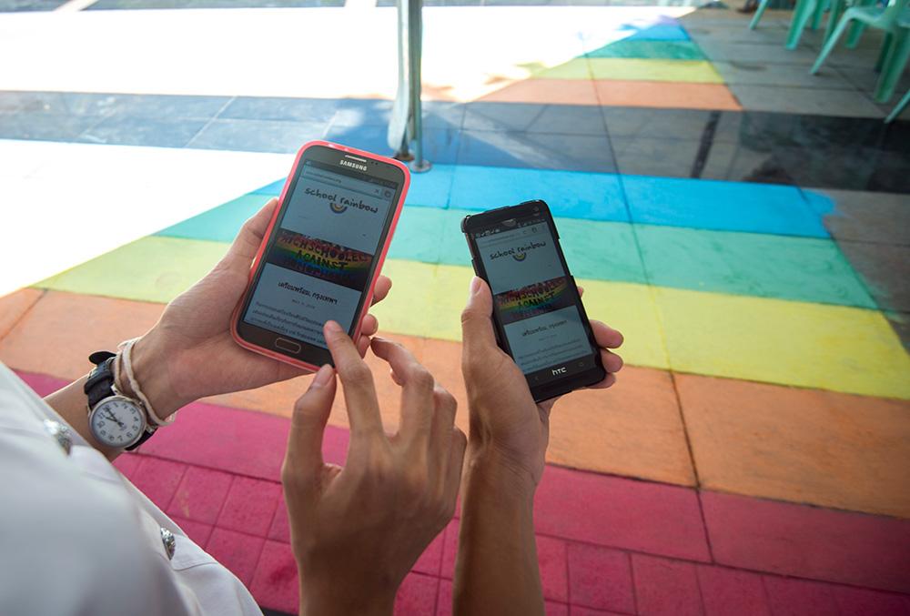 ไปเยี่ยมชมเวปไซต์และอ่านข้อมูลเพิ่มได้ที่  www.schoolrainbow.org   ©UNAIDS/UNESCO/A.Martin