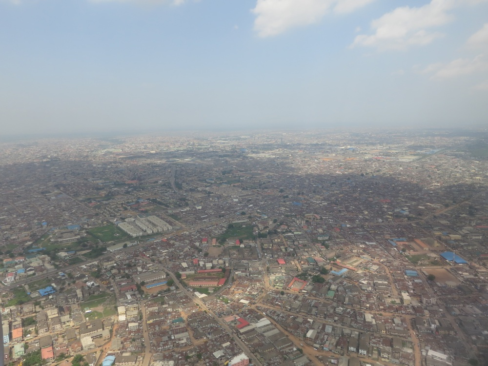Lagos is a city with an estimated population of 23 million people -- the largest city in Africa. UN-Habitat estimates that nearly 70% of the city's inhabitants live in slums.