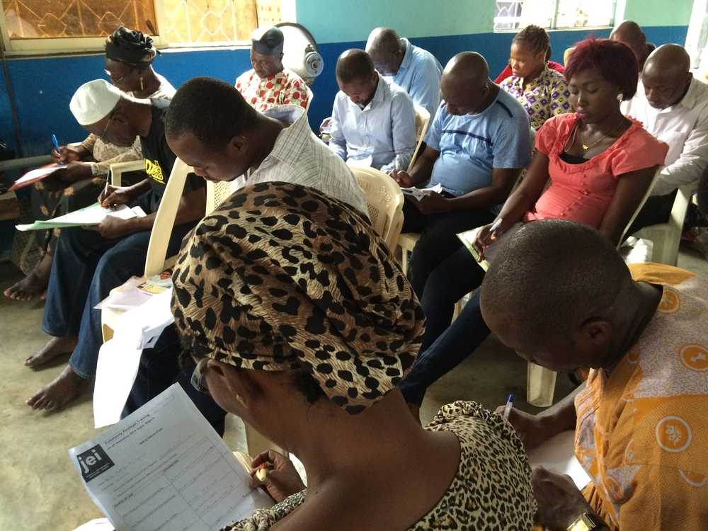 JEI's first class of community paralegals in Lagos write exam on sources of law
