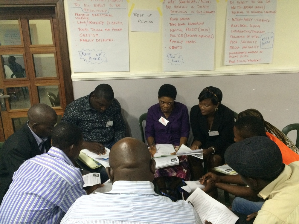JEI's co-directors train key community actors from across the Niger Delta in alternative dispute resolution for Stakeholders Democracy Network