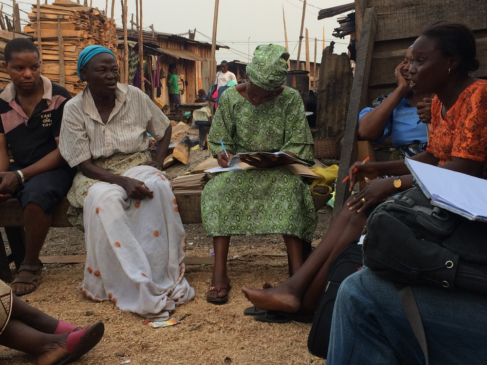 JEI attends weekly savings group meeting in Agbajowo community, Lagos