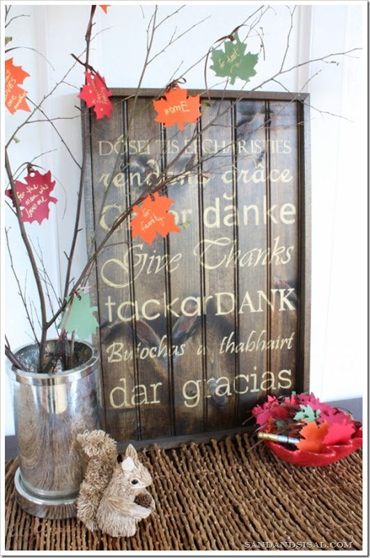 Gratitude tree via Sand & Sisal