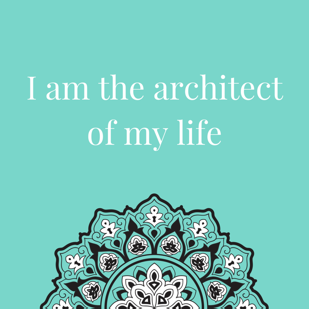 Stop going with the flow and become the architect of my life