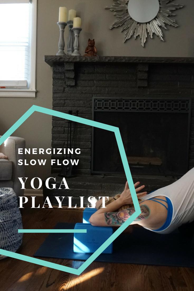 Energizing slow flow yoga playlist for power/vinyasa yoga