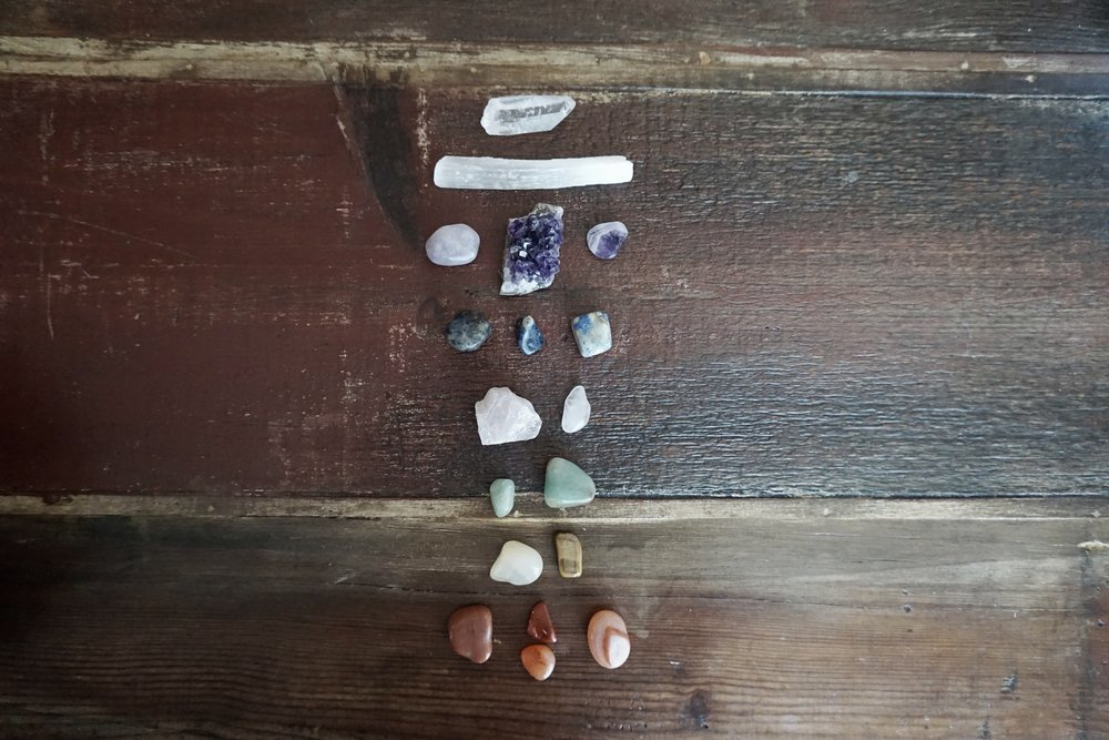 cleanse and charge crystals during full moon