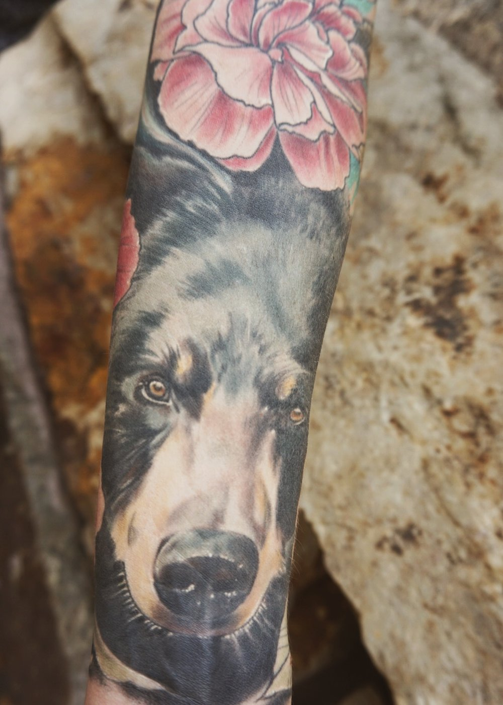 Momma bear forearm tattoo