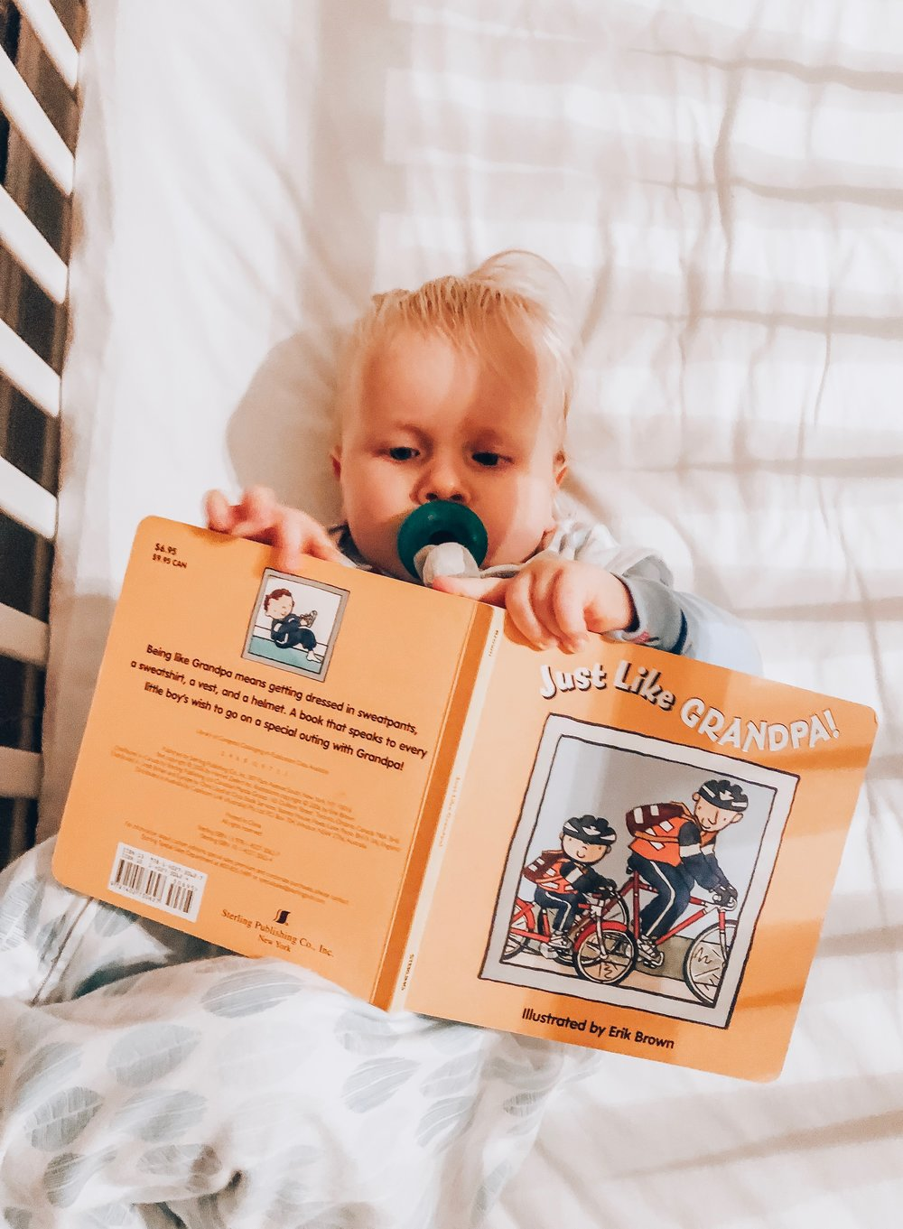 Bedtime stories are part of our routine