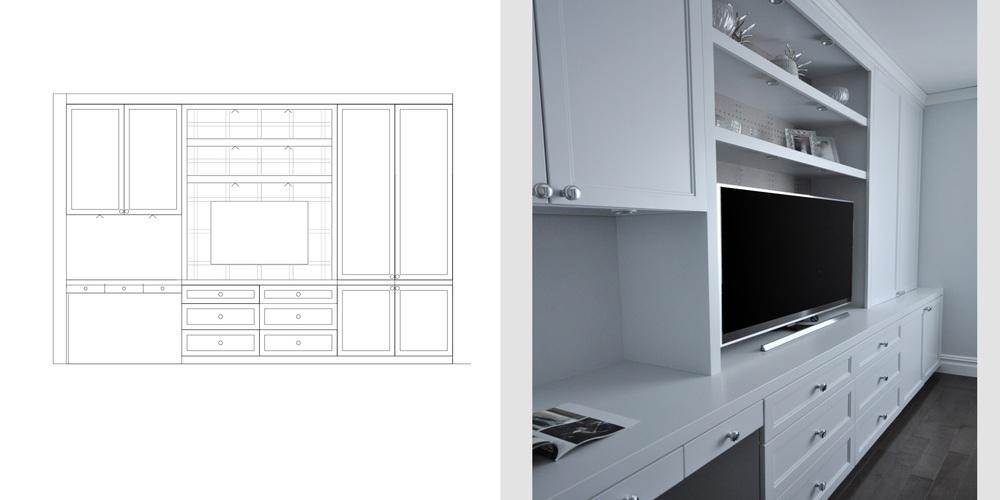 bedroom storage and desk