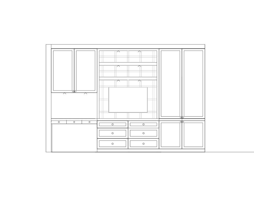 Custom furniture and cabinetry - Custom cabinetry and storage are key parts of our design process.