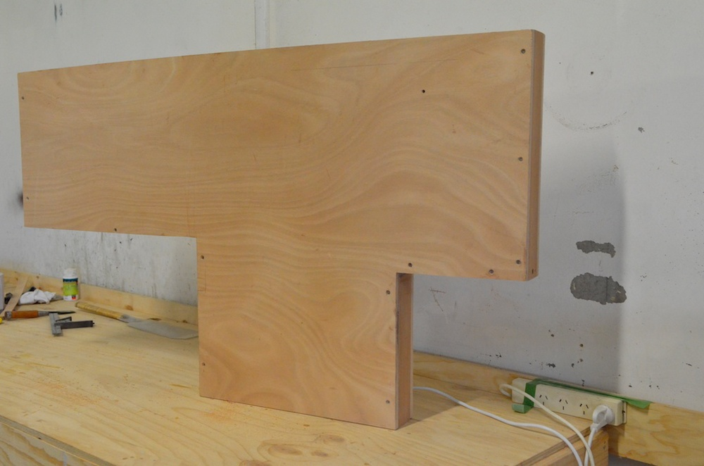 Centreboard case finished and ready for sealing and fitting.