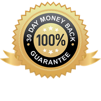30-day money-back guarantee. If you're not 100% satisfied, we'll refund every penny you've paid.
