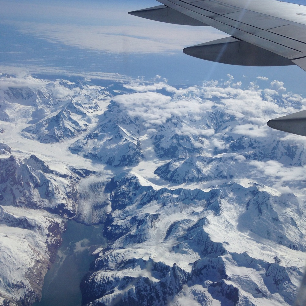 View from the Plane somewhere just north of Juneau, Alaska. I am so excited.