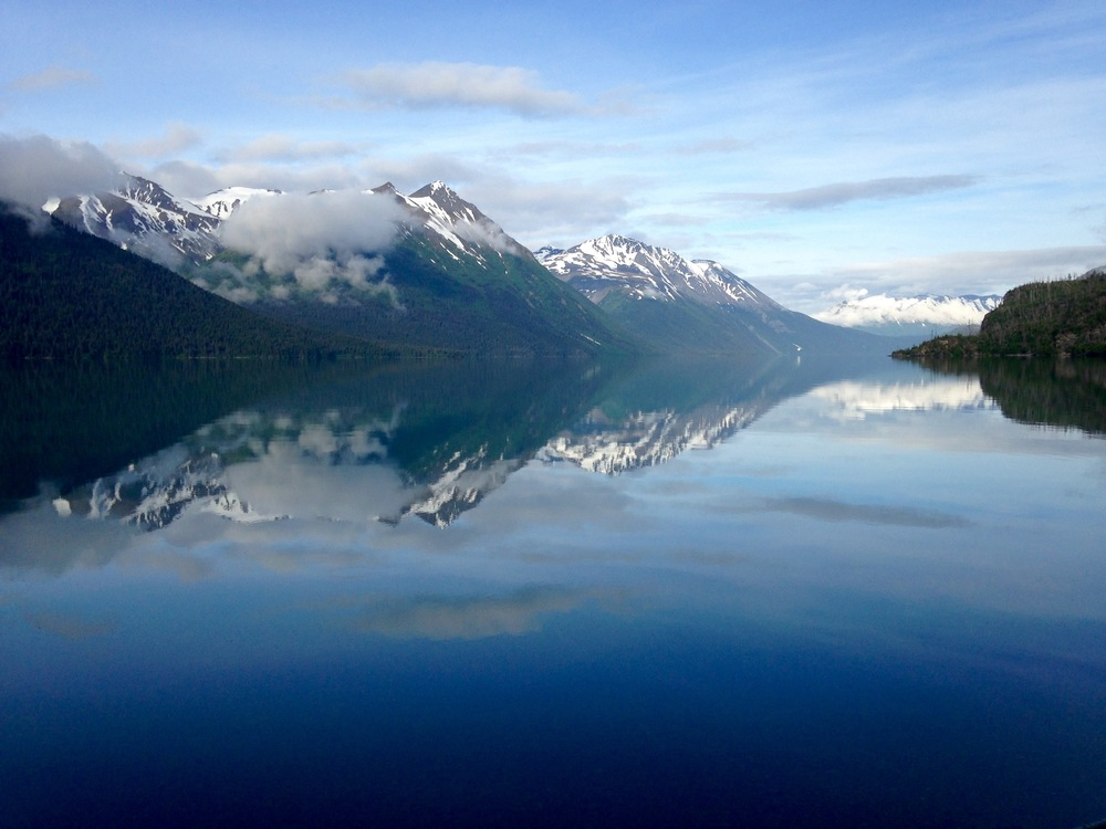 Morning view from Trail River Campground in Chugach National Forest.