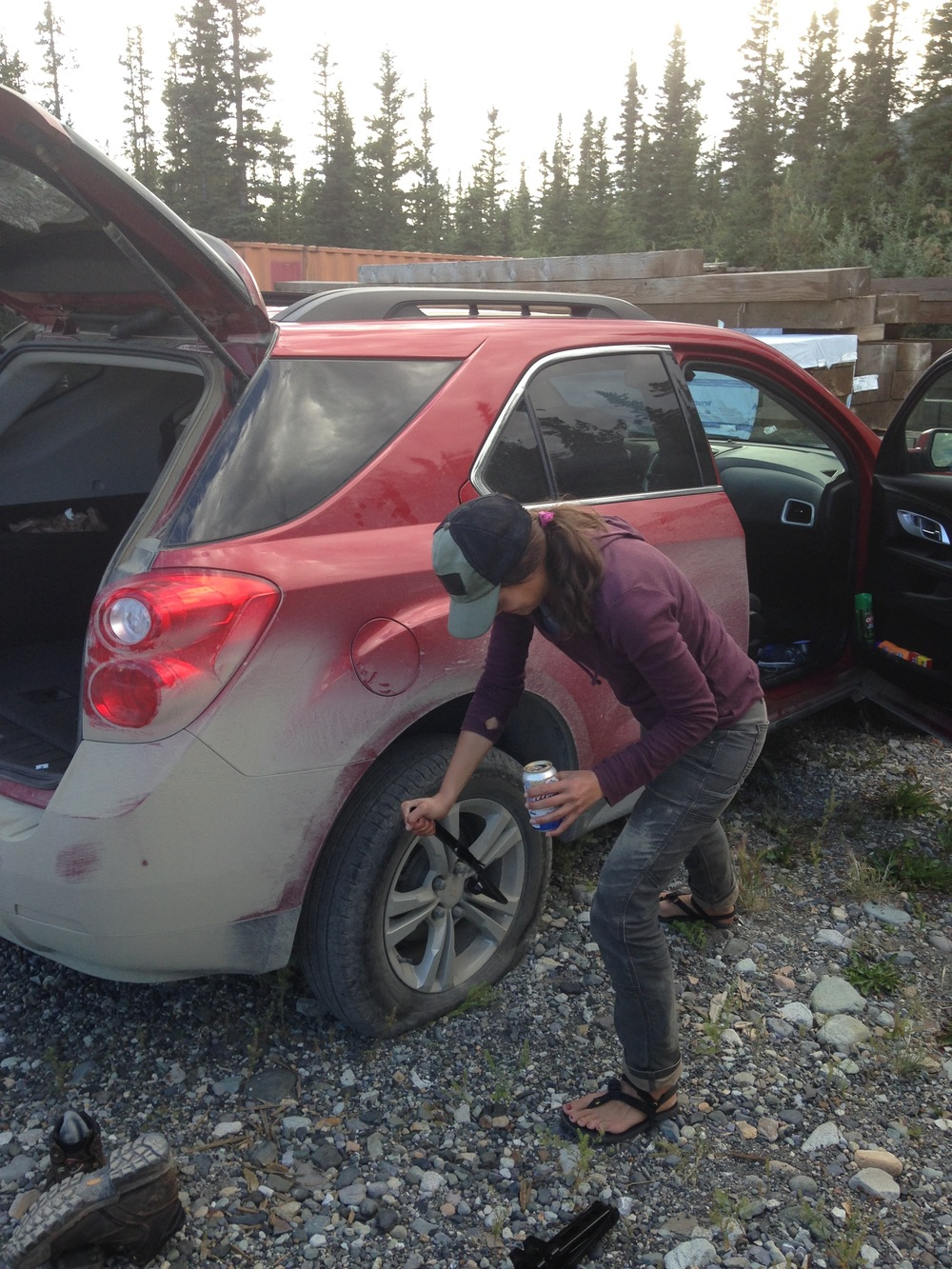 I'm so good at changing tires. An important part of being a botanist.
