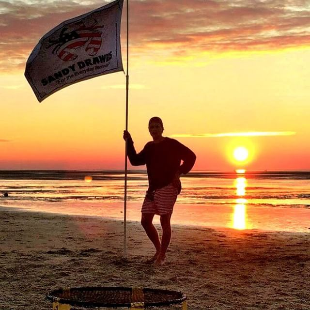 Feeling 4th of July withdrawal? It's OK, sunsets will be back in 2 days #CapeCod #Summer2015 #SandyDrawers #SpikeBall