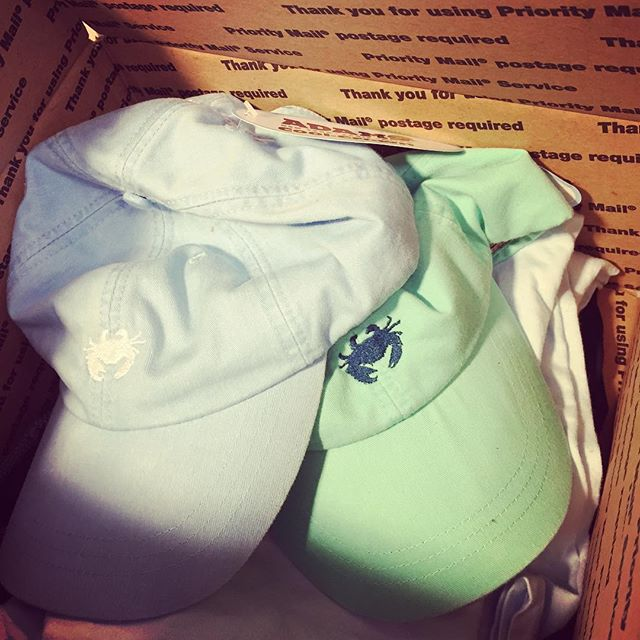 First round of #SandyDrawers orders have been shipped!! Hats and tees going fast, we have Chambray, seafoam, and white all available!! Sandydrawers.com or email sandydrawers@gmail.com