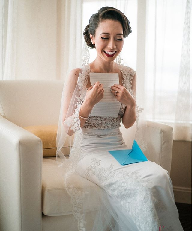 Close-up look at @theasianmenace custom wedding dress & veil. Love this shot by Choice Photos. #bridal #dressmaking #custom
