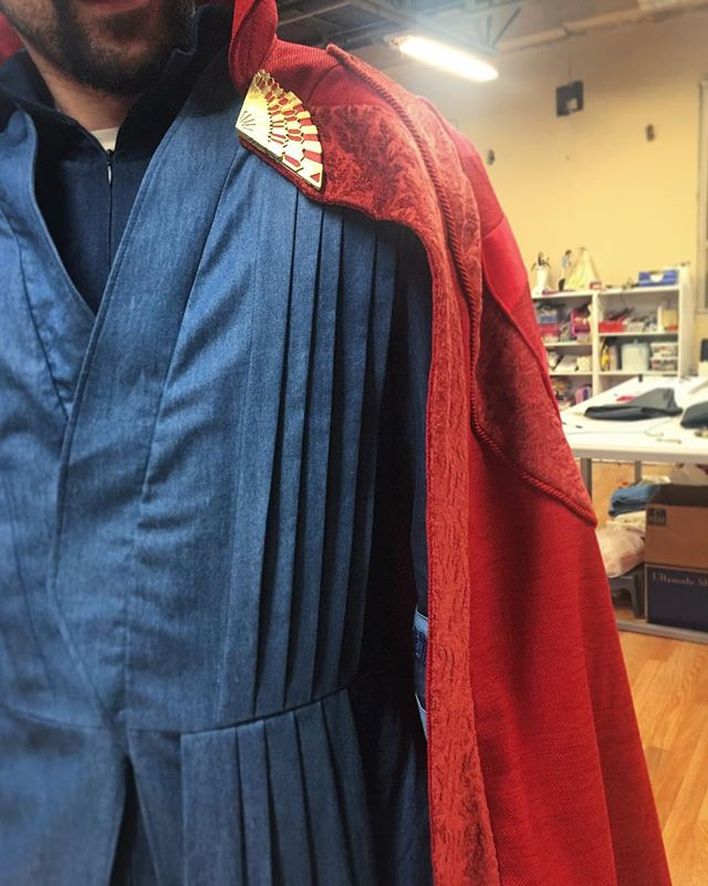Here's a little preview of the Dr. Strange costume I've been working on. 💫 Can't wait for him to debut it for Halloween. #drstrange #custom #costume #sewing