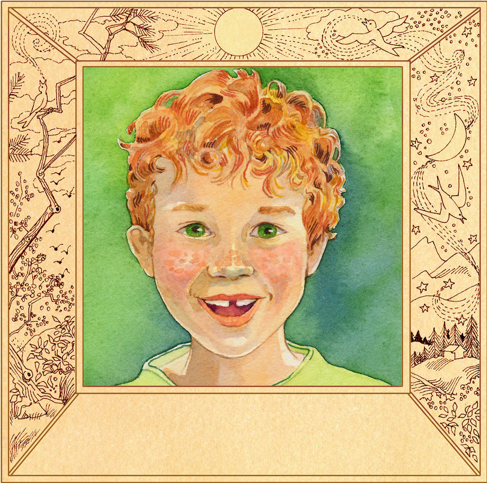 Red-headed boy