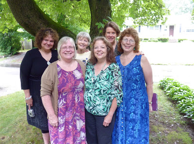 Dale, me, Kay Life, Ruth F., Ruth L. and Judy (our fine hostess)