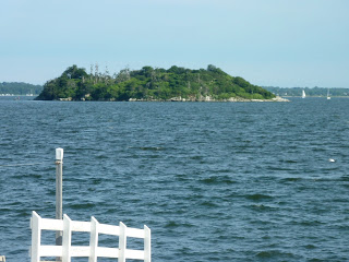 A view of Gould Island from Park Ave. in Portsmouth.
