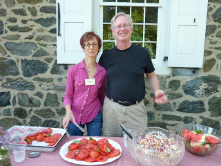 My brother and his wife. Could these tomatoes look any fresher?