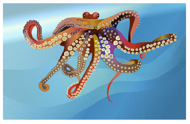 octopus done in Adobe Illustrator