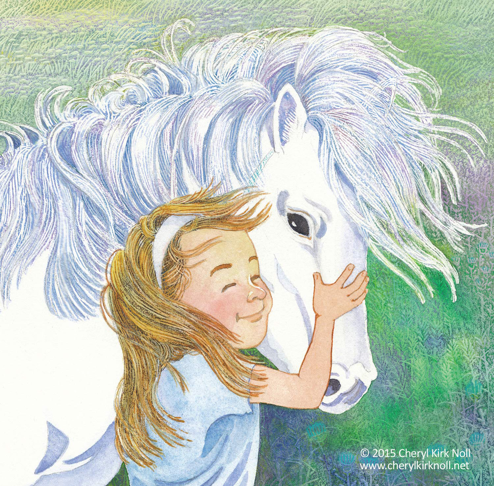 Girl with pony