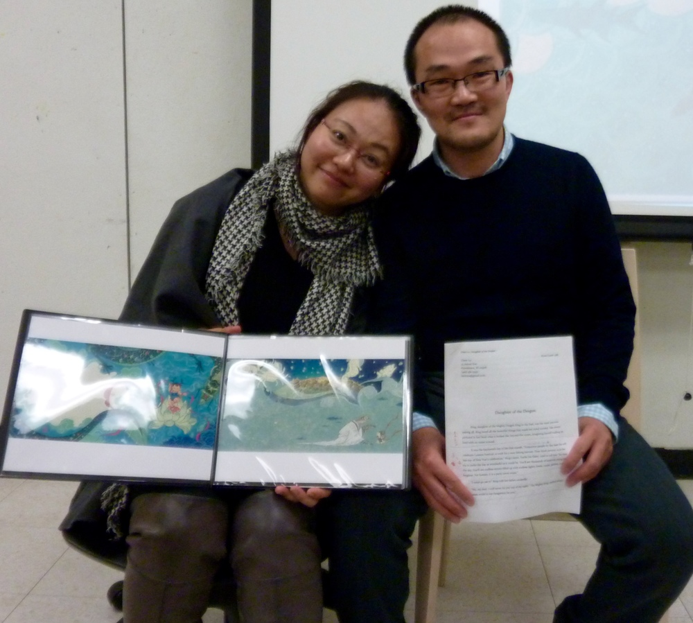 Roya Ma and Luc Chen, illustrator and author team