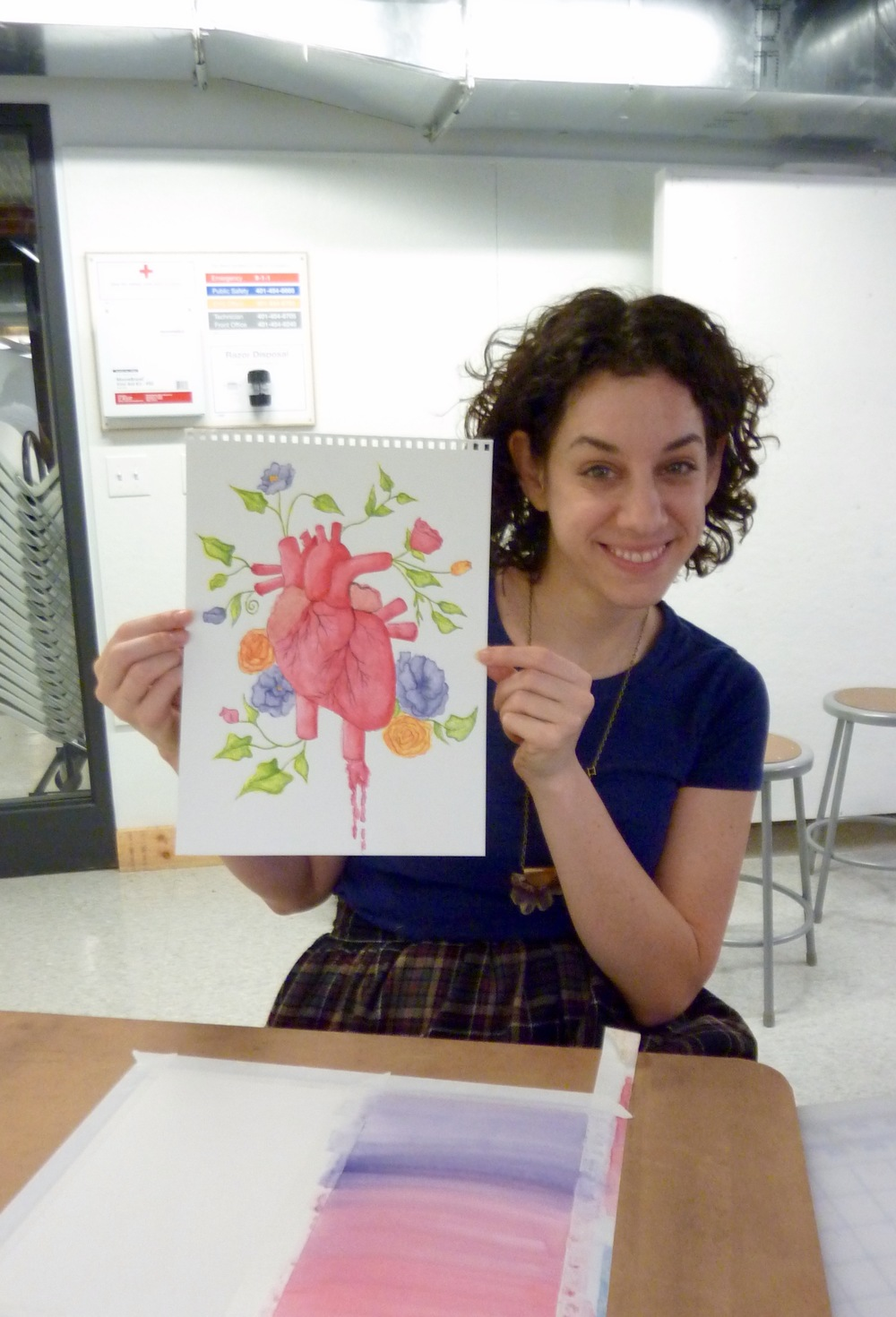 Amy was preparing to teach highschool students anatomy through art.